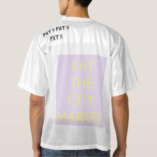 FAT THE CITY MARKET football T shirt logograph
