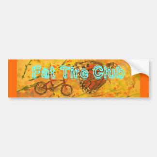 fat tire club bumper sticker