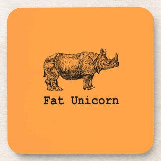 Fat Unicorn Beverage Coasters