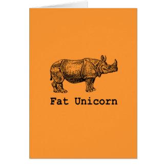 Fat Unicorn Card