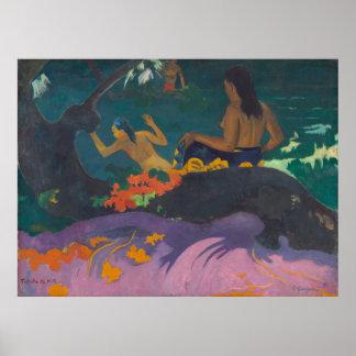 Fatata te Miti By the Sea Gauguin Poster