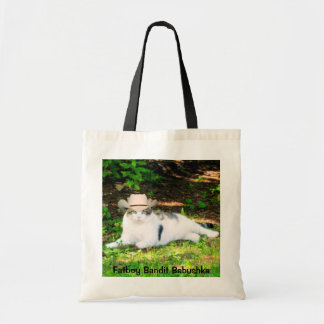 FATBOY BABUSHKA IN COWBOY HAT TOTE BAG