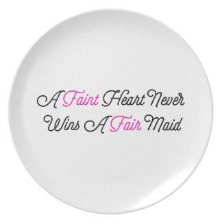 Fate Hearted Never Wins A Fair Maid Dinner Plates