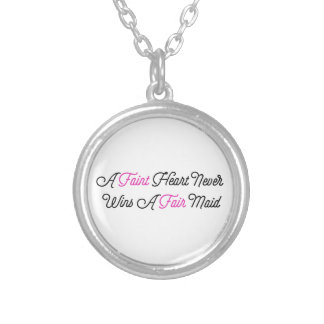 Fate Hearted Never Wins A Fair Maid Silver Plated Necklace
