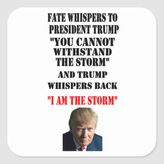 FATE WHISPERS TO PRESIDENT TRUMP SQUARE STICKER