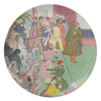 Fatepur Sikiri, 1573: Hasain Quli Khan-l Jahan pre Party Plates