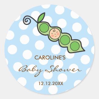 fatfatin Baby Boy Pea In A Pod Custom Sticker