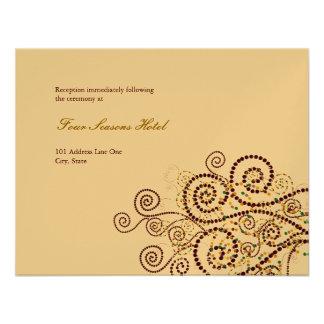 fatfatin Boho Purple Spirals Wedding Reception Personalized Announcements