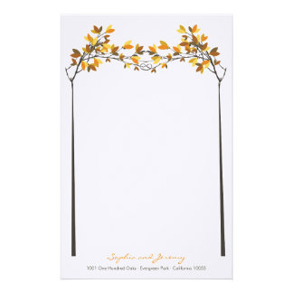 fatfatin Fall Autumn Knotted Love Trees Wedding Stationery