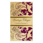 fatfatin Floral Flourish Plum Purple Profile Card Business Cards