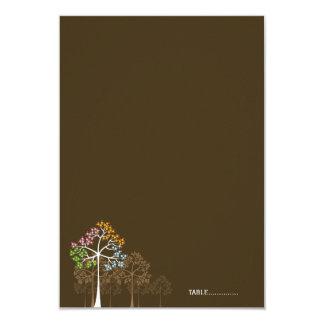 """fatfatin Four Seasons Trees Folded Place Card 3.5"""" X 5"""" Invitation Card"""