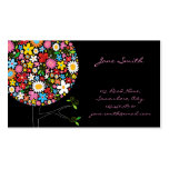fatfatin Spring Flowers Pop Tree Businesscard Business Card