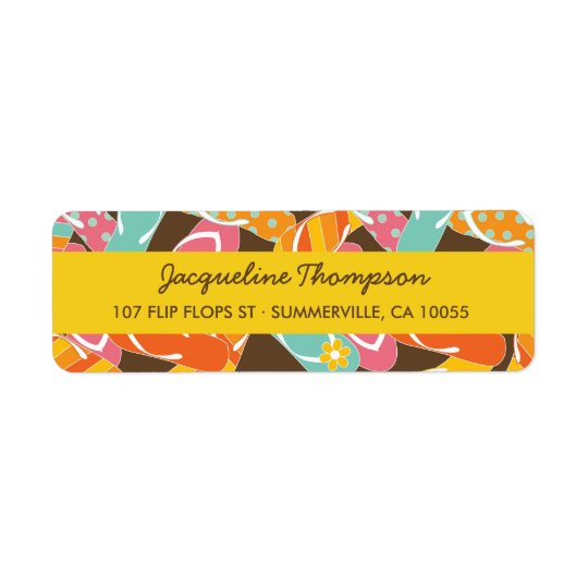 fatfatin Summer Flip Flops Party Address Labels