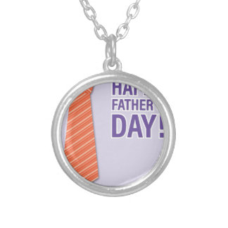 Father #10 silver plated necklace