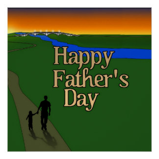 Father And Child - Father's Day Poster
