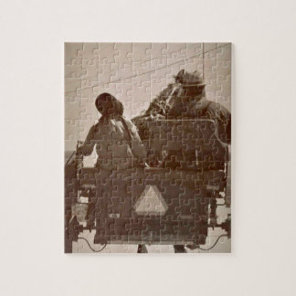Father and Daughter Amish Horse and Buggy Jigsaw Puzzle