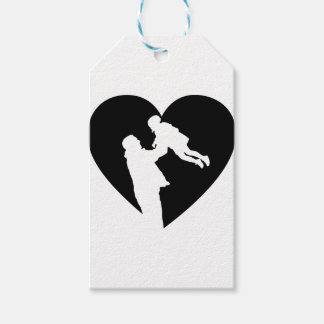 Father And Daughter Heart Gift Tags