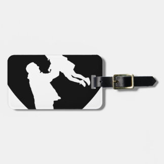 Father And Daughter Heart Luggage Tag