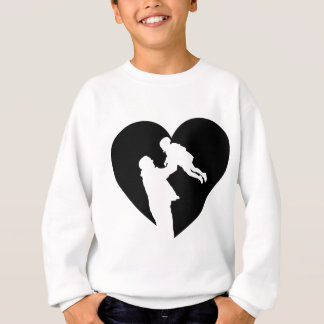 Father And Daughter Heart Sweatshirt
