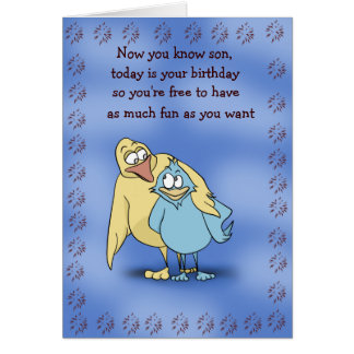 Father and Son Birds Birthday Card