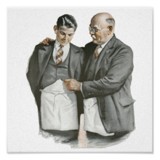 FATHER and Son Canvas Poster