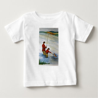 Father and son fishing trip baby T-Shirt