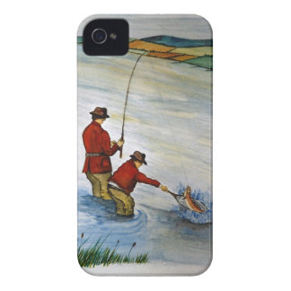 Father and son fishing trip Case-Mate iPhone 4 cases