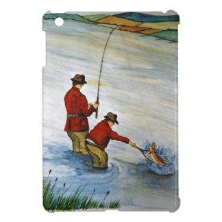 Father and son fishing trip iPad mini cases