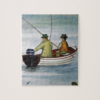 Father and son fishing trip jigsaw puzzle