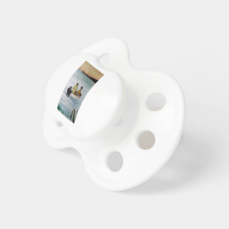 Father and son fishing trip pacifier
