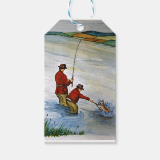 Father and son fishing trip pack of gift tags