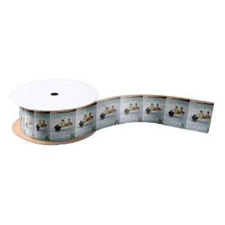 Father and son fishing trip satin ribbon