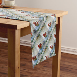Father and son fishing trip short table runner