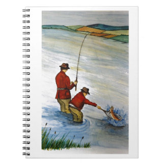 Father and son fishing trip spiral notebook
