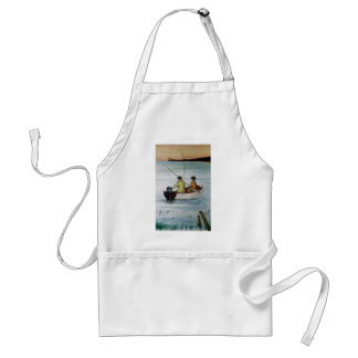 Father and son fishing trip standard apron