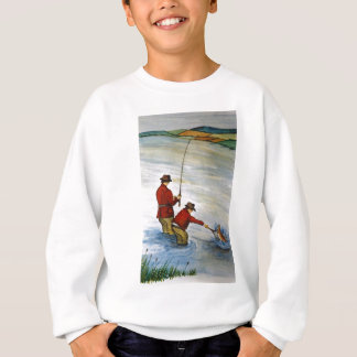 Father and son fishing trip sweatshirt