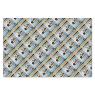 Father and son fishing trip tissue paper