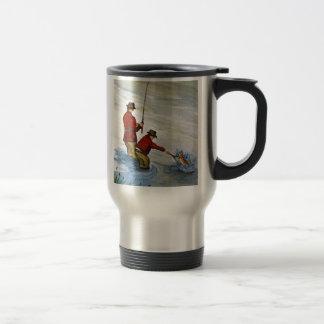 Father and son fishing trip travel mug