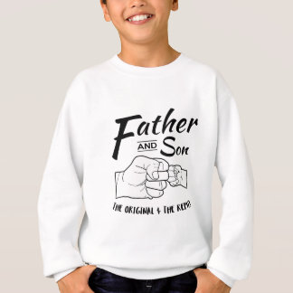 Father and Son Fist bump Sweatshirt