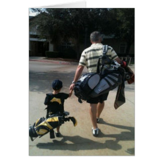 Father and Son Golf Team Card