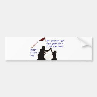 Father and Son image for Bumper-Sticker Bumper Sticker