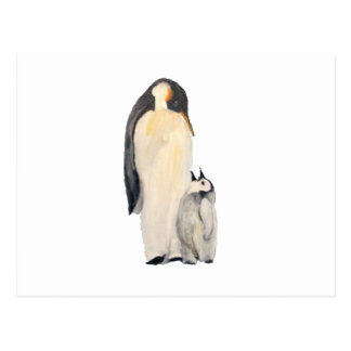 """""""Father And Son Penguin"""" Horizontal Postcard"""