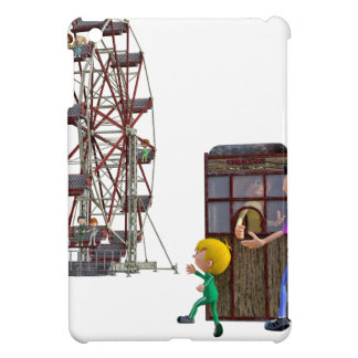 Father and Son ready to ride a Ferris Wheel Case For The iPad Mini