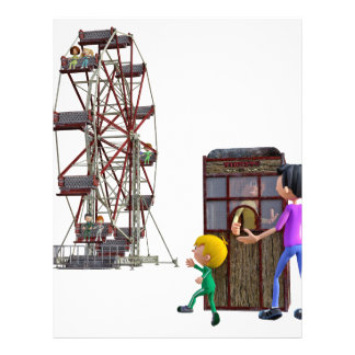 Father and Son ready to ride a Ferris Wheel Customized Letterhead