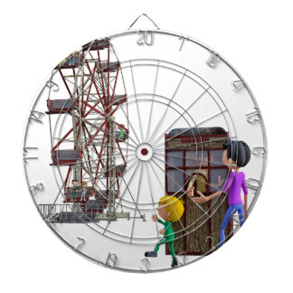 Father and Son ready to ride a Ferris Wheel Dartboard