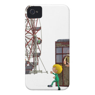Father and Son ready to ride a Ferris Wheel iPhone 4 Case-Mate Cases