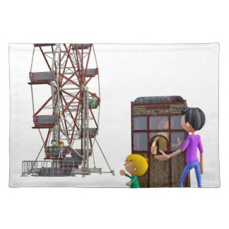 Father and Son ready to ride a Ferris Wheel Placemat