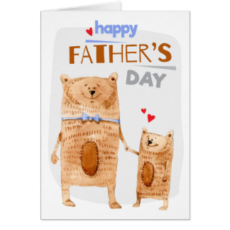Father Bear Photo Greeting Card