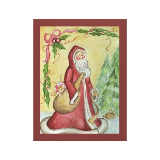 Father Christmas Canvas Art Print Gallery Wrapped Canvas