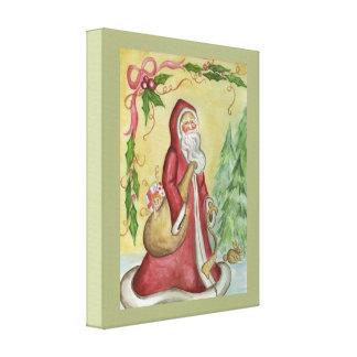 Father Christmas Canvas Art Print